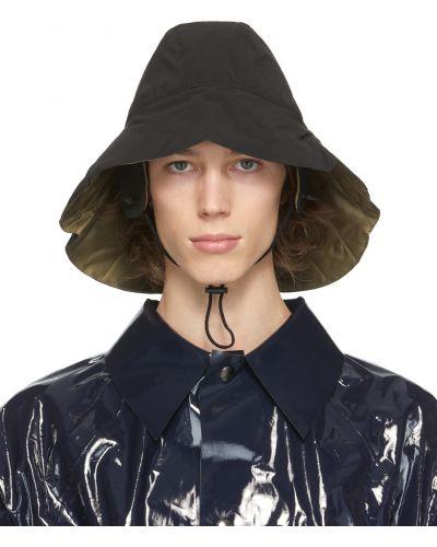Czarny kapelusz bawełniany ocieplany Kassl Editions