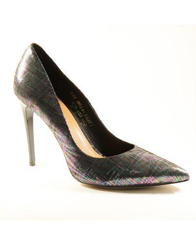 Кожаные туфли - серые Visconi