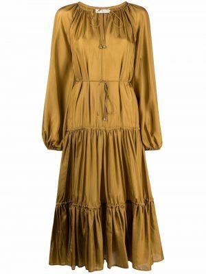 Шелковое платье миди - зеленое Zimmermann