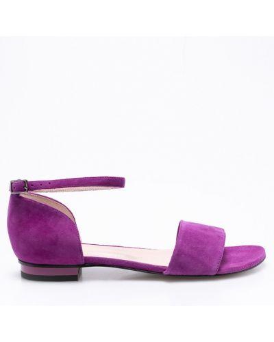 Фиолетовые сандалии кожаный Gino Rossi