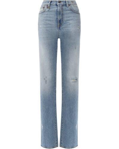 Прямые джинсы с эффектом потертости R13