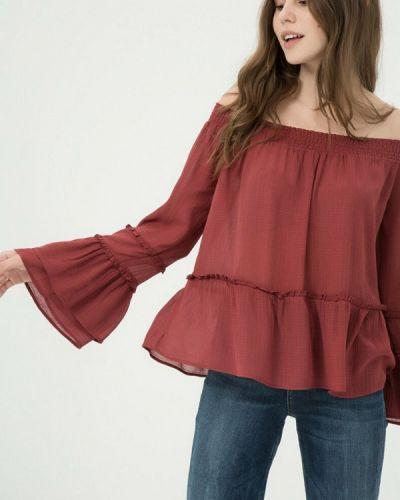 Красная блузка с открытыми плечами Koton