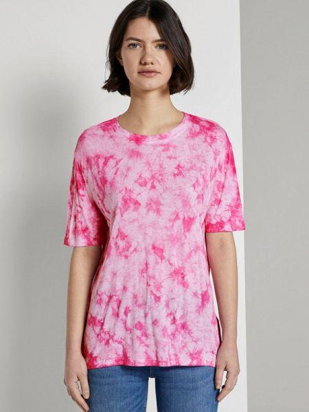 Поло розовый футбольный Tom Tailor Denim