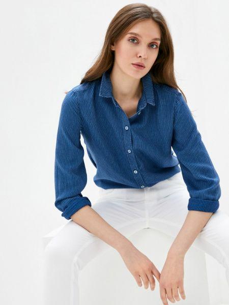 Блузка с длинным рукавом синяя весенний Marc O`polo