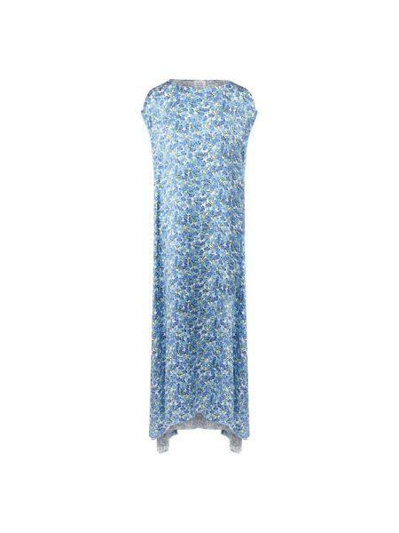 Платье миди с цветочным принтом свободного кроя Vetements