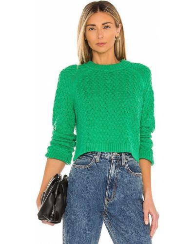 Шерстяной пуловер для полных мятный Alice + Olivia