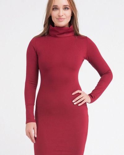 Платье бордовый вязаное Malaeva