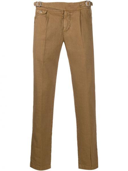 Прямые прямые брюки с пряжкой с карманами на молнии Entre Amis