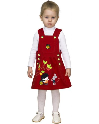 Брендовый хлопковый красный сарафан славита