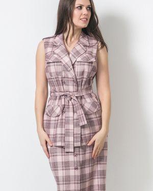 Прямая деловая юбка миди с карманами на пуговицах Modellos