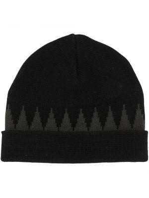 Czarny czapka beanie wełniany Undercover