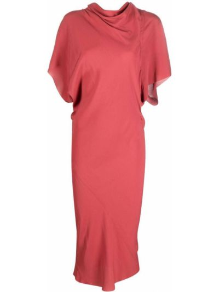 Sukienka długa krótki rękaw - różowa Rick Owens