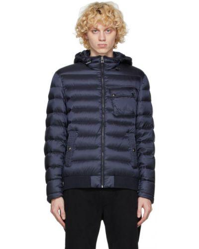 Puchaty pikowana kurtka z mankietami z długimi rękawami z kieszeniami Belstaff
