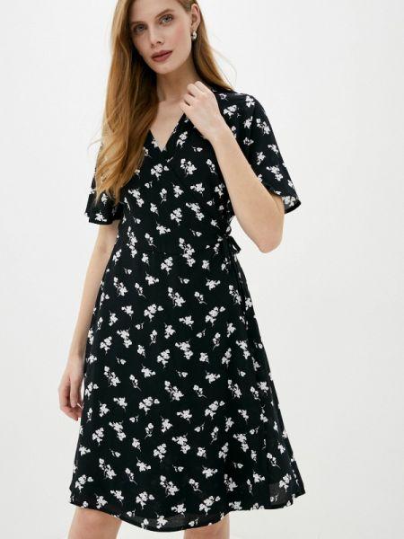 Черное платье с запахом B.young
