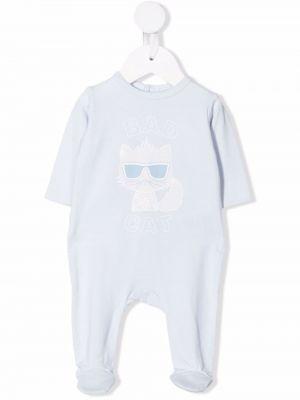 Body z printem - niebieski Karl Lagerfeld Kids