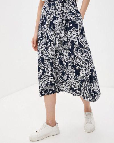 Синяя юбка свободного кроя Marks & Spencer