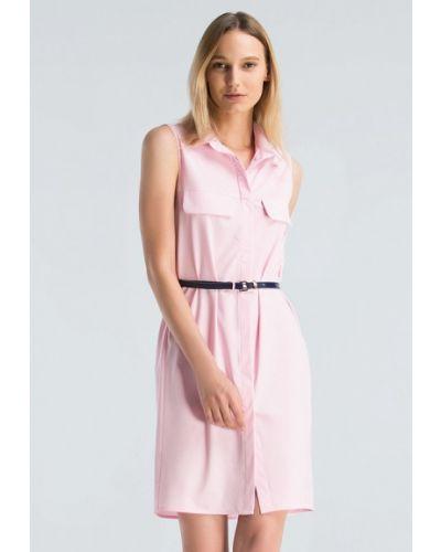 Платье мини весеннее розовое Grass