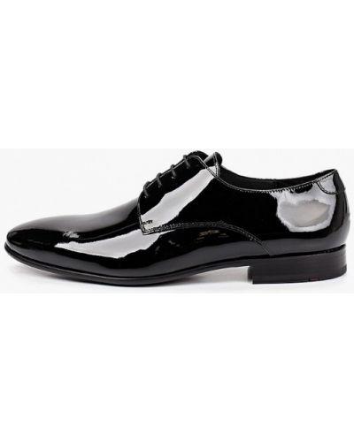 Лаковые черные кожаные туфли Lloyd