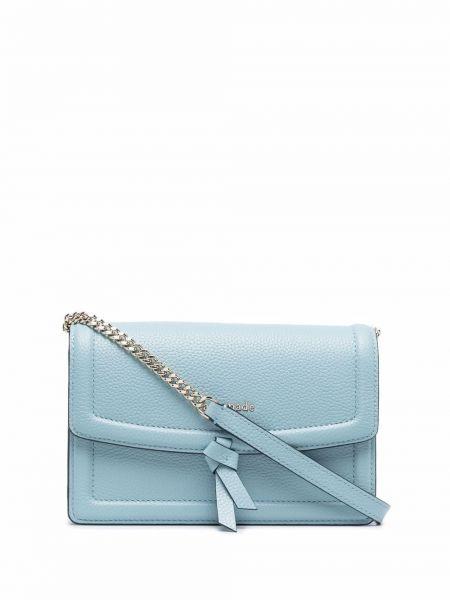 Niebieska torebka na łańcuszku skórzana Kate Spade