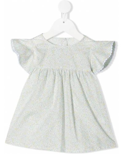 Белая блузка с короткими рукавами с вырезом Siola