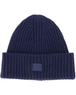 Prążkowany niebieski kapelusz wełniany Acne Studios Kids