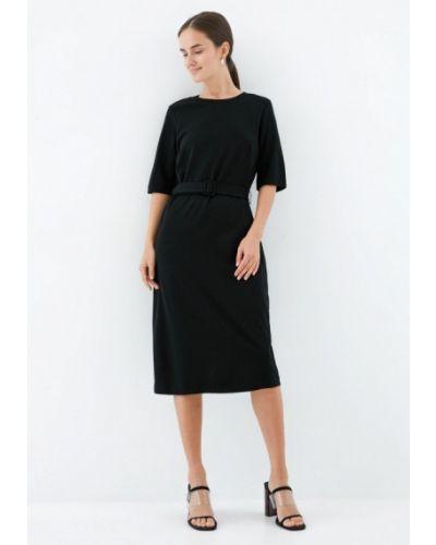 Повседневное черное повседневное платье Zarina