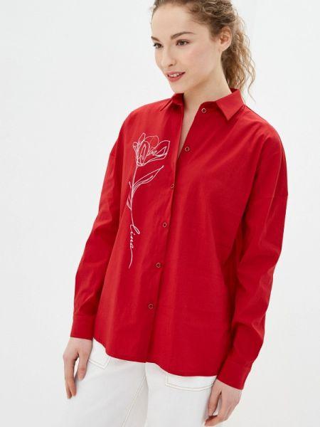 Рубашка с длинным рукавом красный Lina
