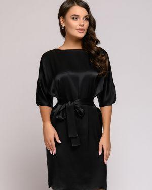 Платье мини коктейльное с поясом 1001 Dress