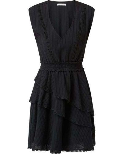 Czarna sukienka mini rozkloszowana bawełniana Freebird