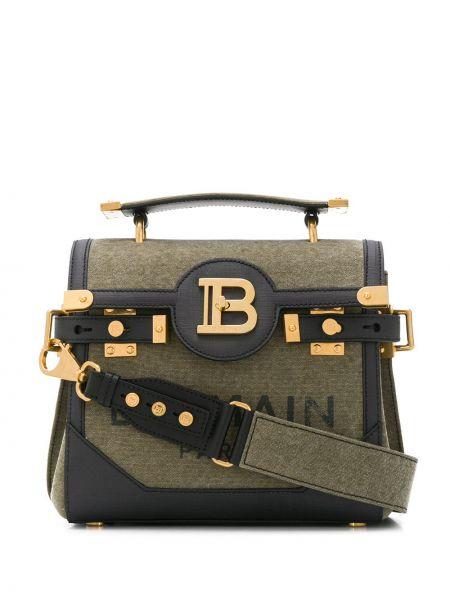 Bawełna z uchwytem torba z logo złoto Balmain