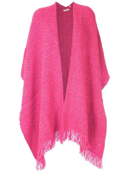 Шерстяное пончо - розовое Osklen