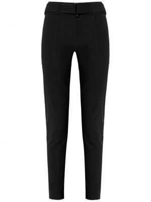 Приталенные черные брюки с поясом Gloria Coelho