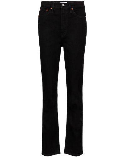 Prosto bawełna bawełna czarny klasyczny jeansy Re/done