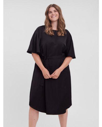Czarna sukienka casual Vero Moda Curve