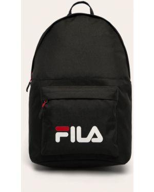 Czarny plecak z printem Fila