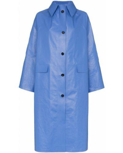 Синее пальто с капюшоном на пуговицах Kassl