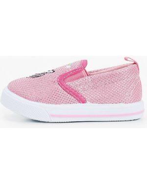 Мокасины розовый текстильные Tom-miki