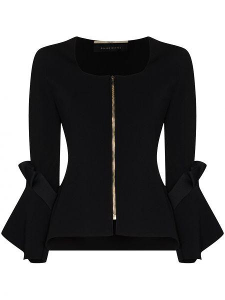 Черная куртка из вискозы квадратная Roland Mouret