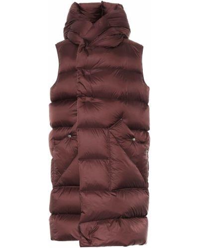 Fioletowy puchaty płaszcz bez rękawów na uroczystość Rick Owens
