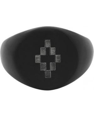 Кольцо серебряный черный Marcelo Burlon County Of Milan