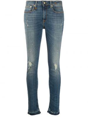 Укороченные джинсы скинни mom R13