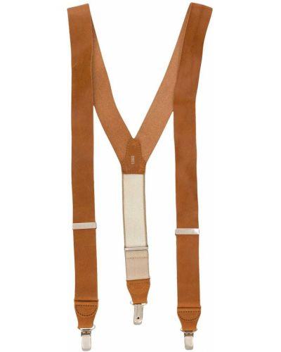 Коричневые кожаные подтяжки Gianfranco Ferre Pre-owned