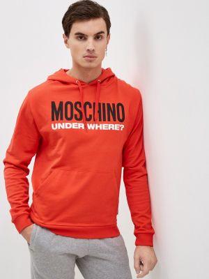 Оранжевая зимняя толстовка Moschino Underwear
