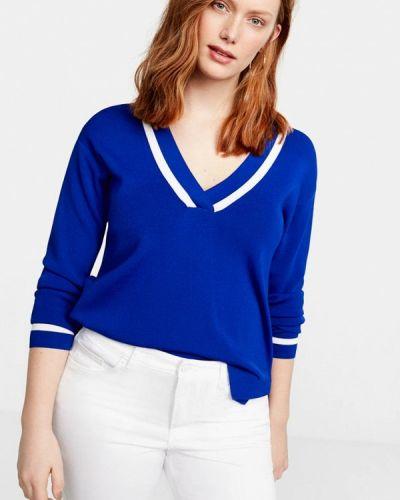 Пуловер синий Violeta By Mango