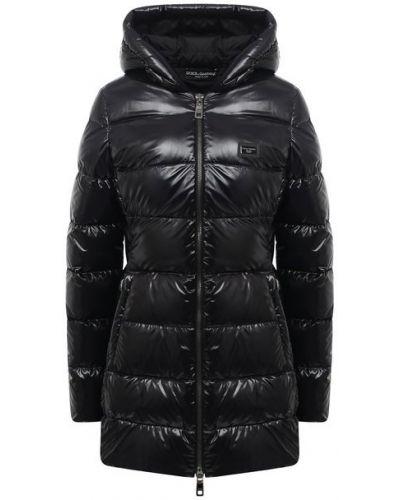 Пуховая куртка - черная Dolce & Gabbana