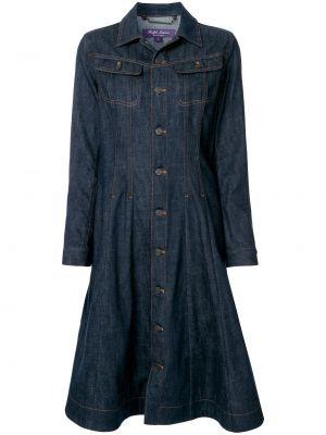 Платье макси длинное - синее Ralph Lauren Collection
