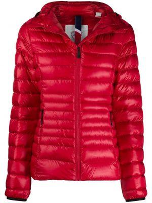 Красная классическая стеганая куртка с нашивками на молнии Rossignol