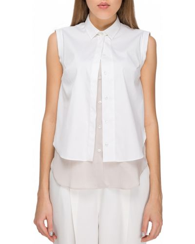 Рубашка хлопковая белая Brunello Cucinelli