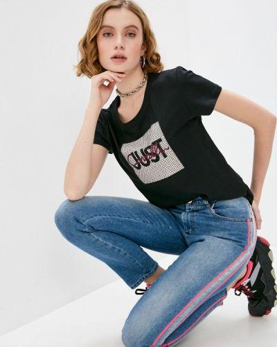Черная футболка с короткими рукавами Just Cavalli
