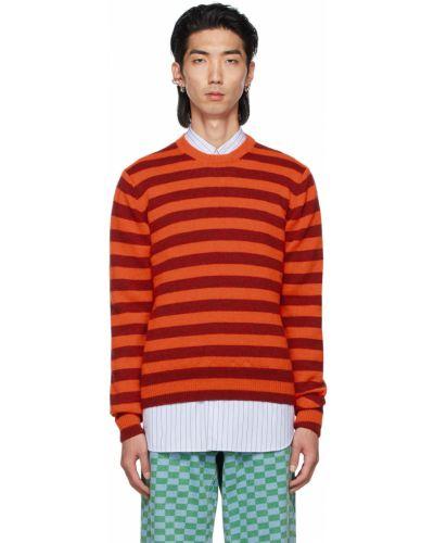 Sweter w paski - pomarańczowy Molly Goddard